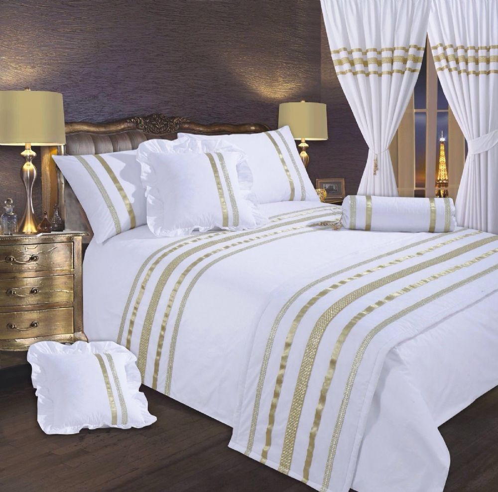 large sofa seat covers costco leather warranty white & gold colour stylish sequin duvet cover luxury ...